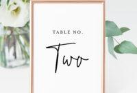 Printable Table Number Cards, Minimalist Wedding Table throughout Table Number Cards Template