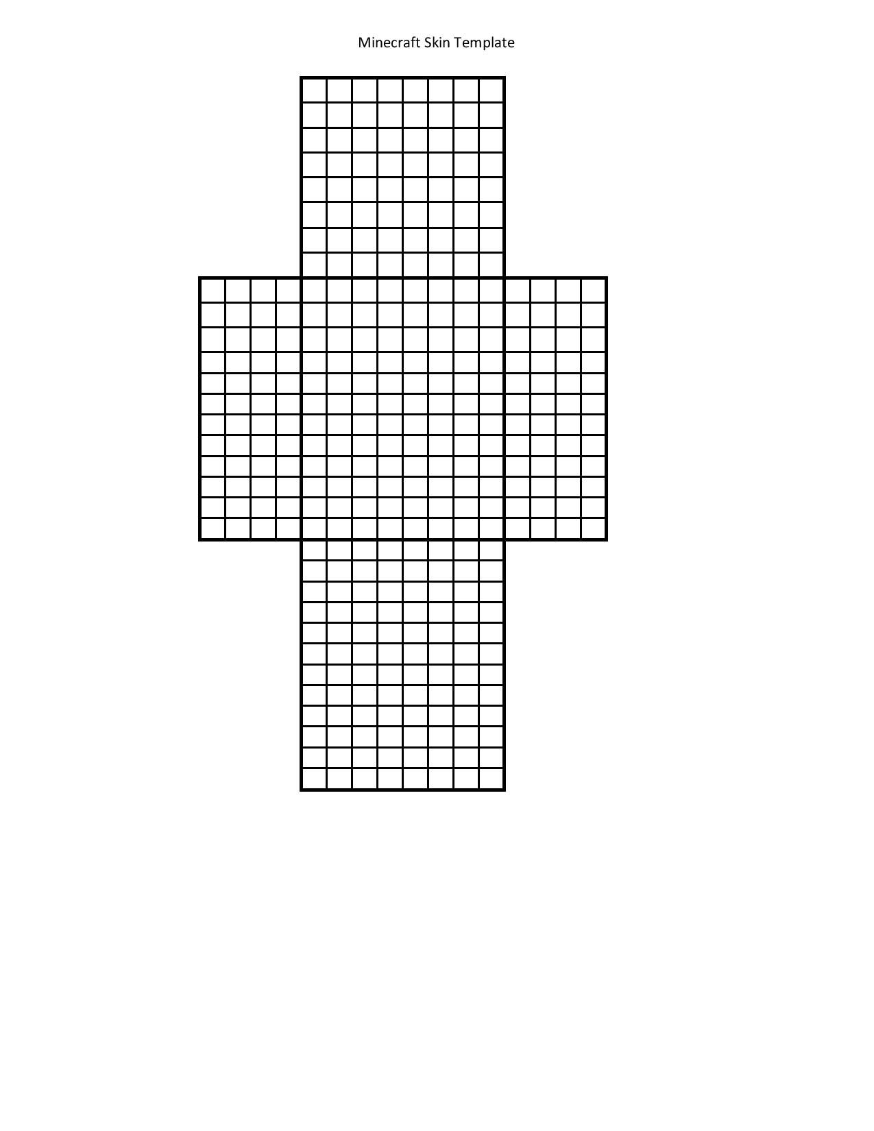 Printable Template For Minecraft Skin Creation. Use Markers With Minecraft Blank Skin Template