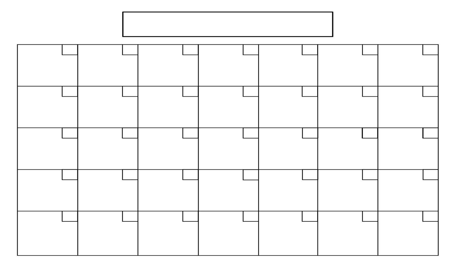 Printable+Full+Page+Blank+Calendar+Template | Blank Calendar For Blank One Month Calendar Template