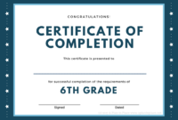 Printed Certificates With 5Th Grade Graduation Certificate regarding 5Th Grade Graduation Certificate Template