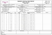 Product Detail for Welding Inspection Report Template