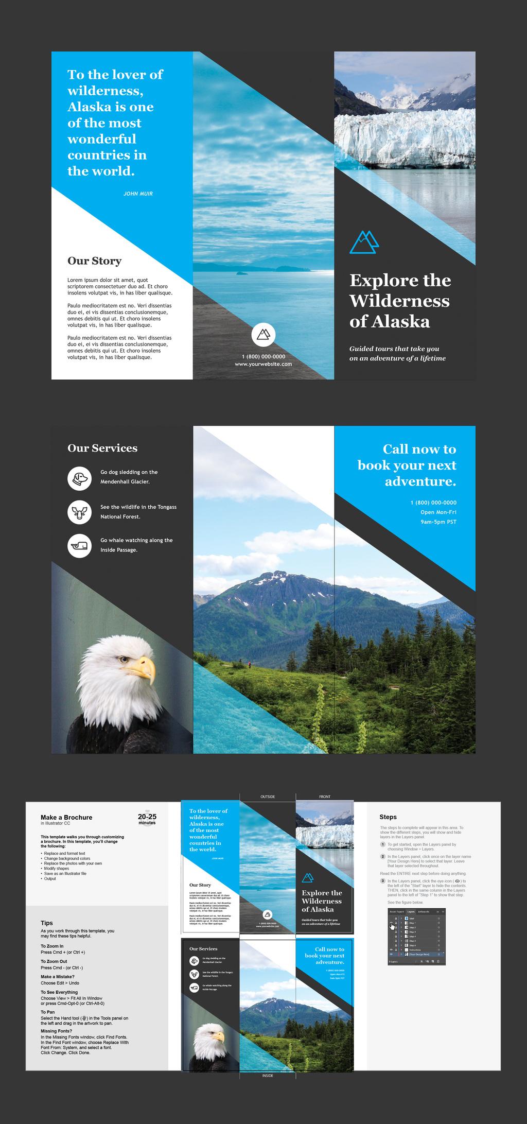 Professional Brochure Templates | Adobe Blog Within Adobe Illustrator Brochure Templates Free Download