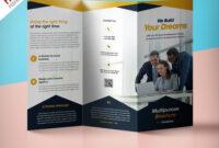 Professional Corporate Tri-Fold Brochure Free Psd Template with 3 Fold Brochure Template Psd Free Download