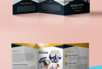 Professional Corporate Tri-Fold Brochure Free Psd Template within Brochure Folding Templates