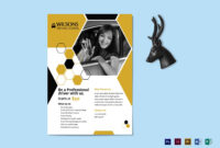 Professional Driving School Flyer Template with School Brochure Design Templates