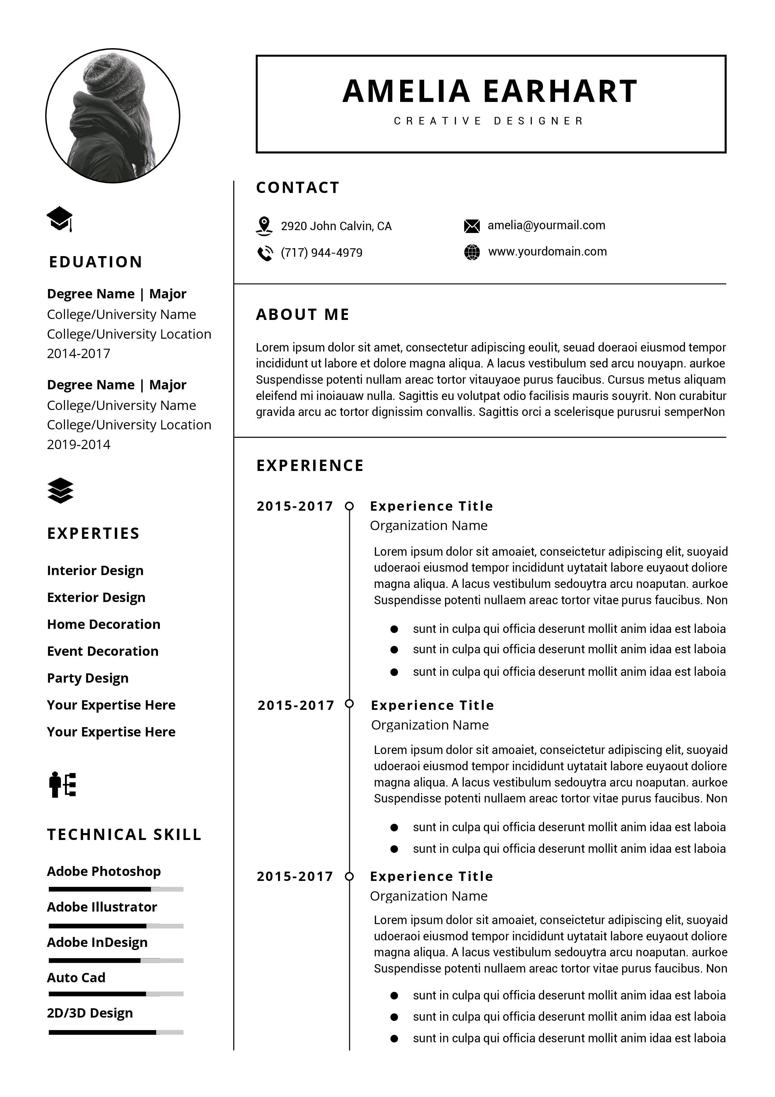 Professional Resume / Cv Template Instant Download | Ms Word With How To Create A Cv Template In Word