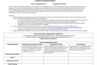 Program Assessment Report Template within Data Quality Assessment Report Template