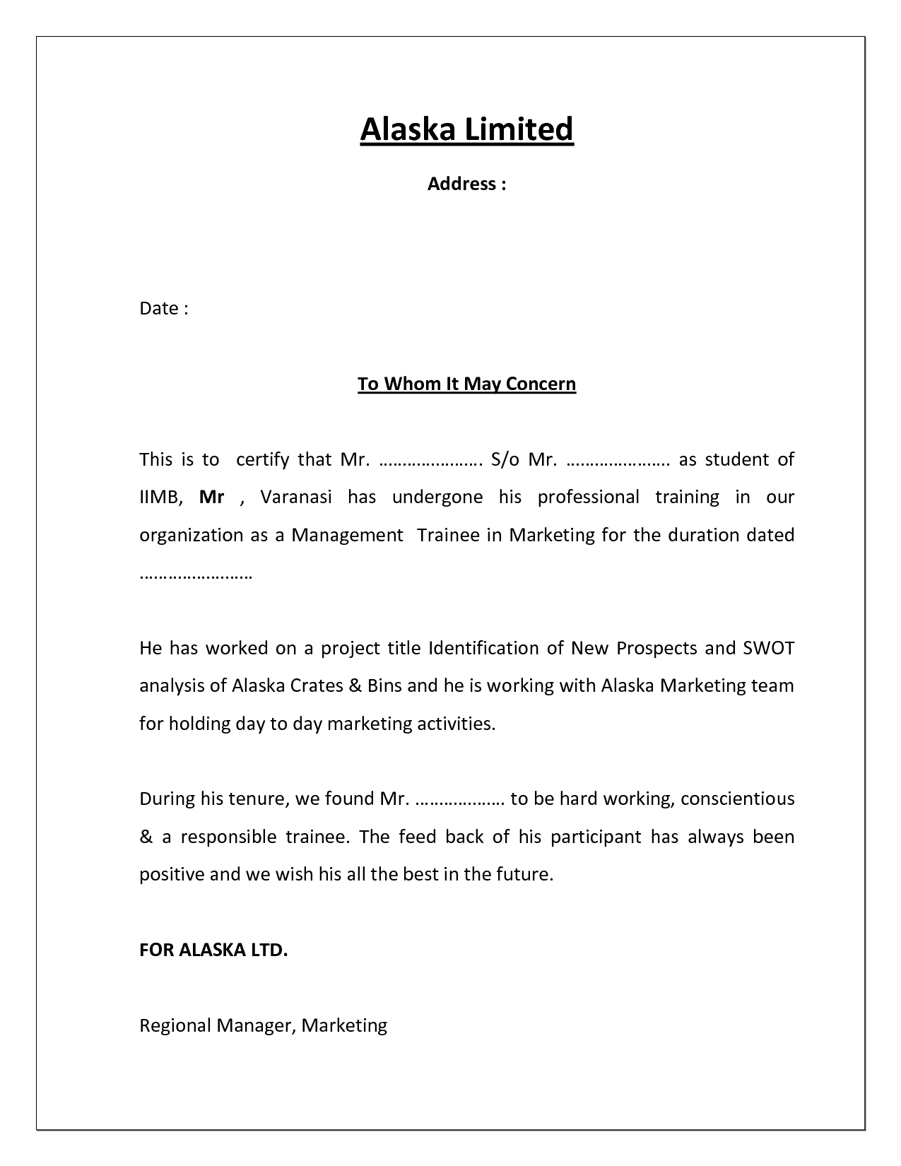 Project Completion Certificate Template | Cover Latter Within Certificate Template For Project Completion
