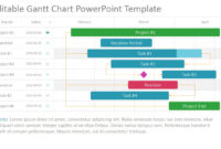 Project Gantt Chart Powerpoint Template with regard to Project Schedule Template Powerpoint
