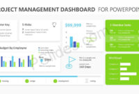 Project Management Dashboard Powerpoint Template – Pslides within Powerpoint Dashboard Template Free