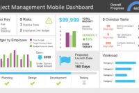 Project Management Dashboard Powerpoint Template with regard to Project Dashboard Template Powerpoint Free