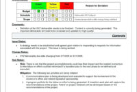 Project Management. Project Management Report Template with regard to Deviation Report Template