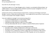 Project Manager Cover Letter Example | Resume Genius within Letter Of Interest Template Microsoft Word