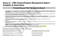 Project/programme Report Template for M&e Report Template