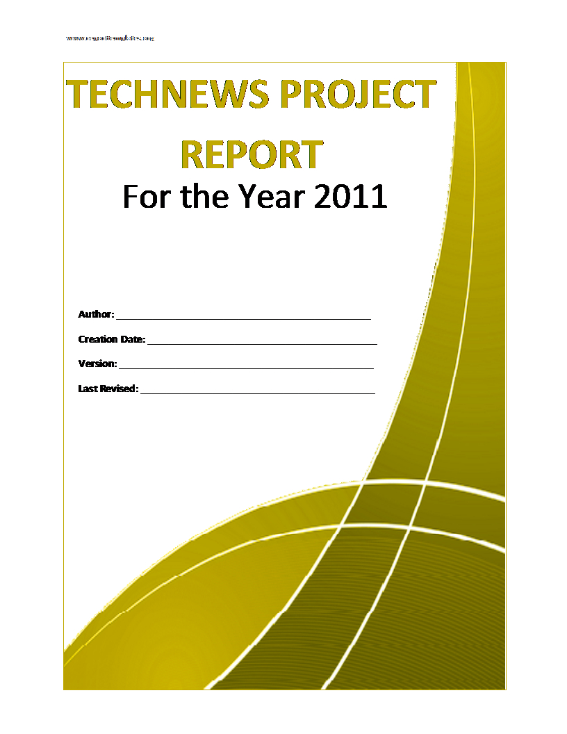 Project Report Template Pertaining To Project Analysis Report Template