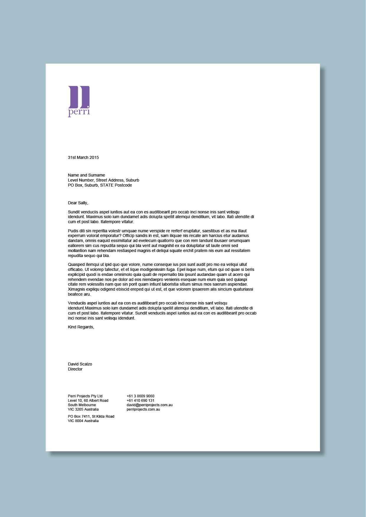 Property Developer Letterhead #cordestra #word Letterheads Pertaining To Headed Letter Template Word