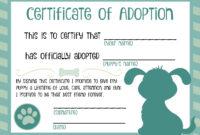 Puppy Adoption Certificate | Dog Birthday In 2019 | Adoption throughout Pet Adoption Certificate Template