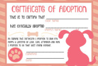 Puppy Adoption Certificate … | Party Ideas In 2019 | Puppy regarding Pet Adoption Certificate Template