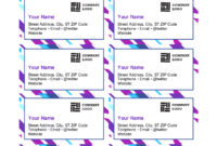 Purple Graphic Business Cards pertaining to Template For Cards In Word