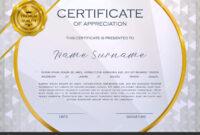 Qualification Certificate Appreciation Design Elegant Luxury with Qualification Certificate Template
