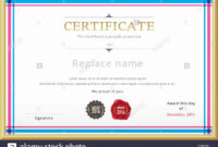Qualification Certificate Template Stock Photos intended for Qualification Certificate Template