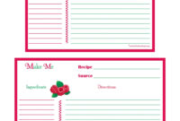 Raspberries Recipe Card – 4X6 & 5X7-Page | Recipe Keepers intended for 4X6 Photo Card Template Free