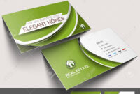 Real Estate Agent Business Card Set Template in Real Estate Agent Business Card Template