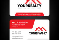 Real Estate Business Card And Logo Template throughout Real Estate Agent Business Card Template
