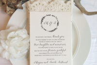 Reception Thank You Card Template | Instant Download Pdf within Template For Wedding Thank You Cards