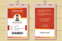 Red Employee Id Card Design Template pertaining to Template For Id Card Free Download