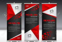Red Roll Up Banner Template Vector Illustration,banner Design,.. pertaining to Pop Up Banner Design Template