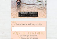 Referral Card Template | Pastel Greetings for Referral Card Template