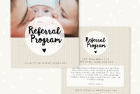 Referral Cards, Referral Card Template, Referral Program, Tell A Friend,  Referral Photoshop Template, Word Of Mouth Marketing Board Psd for Referral Card Template