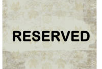 Reserved Sign Throughout Reserved Cards For Tables Templates with regard to Reserved Cards For Tables Templates