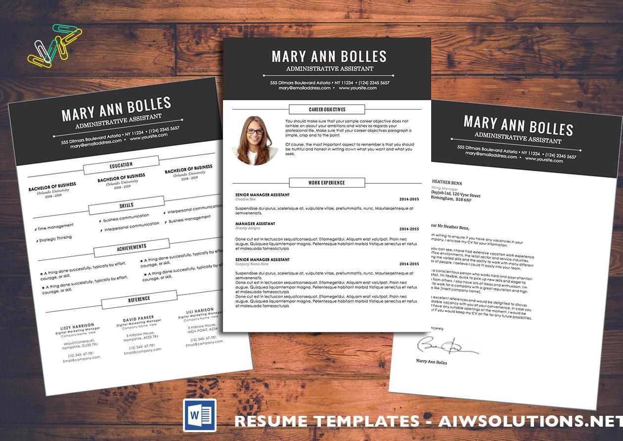 Resume Template Id02 Regarding Resume Templates Word 2010