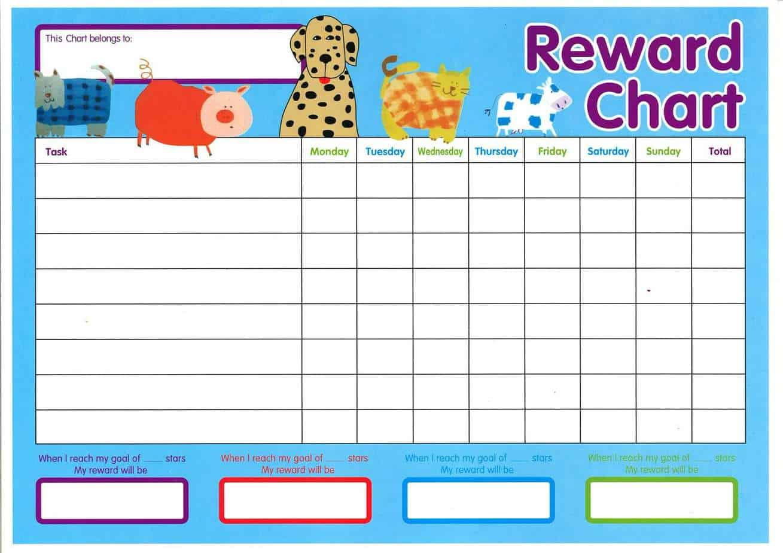 Reward Chart Templates – Word Excel Fomats Regarding Reward Chart Template Word