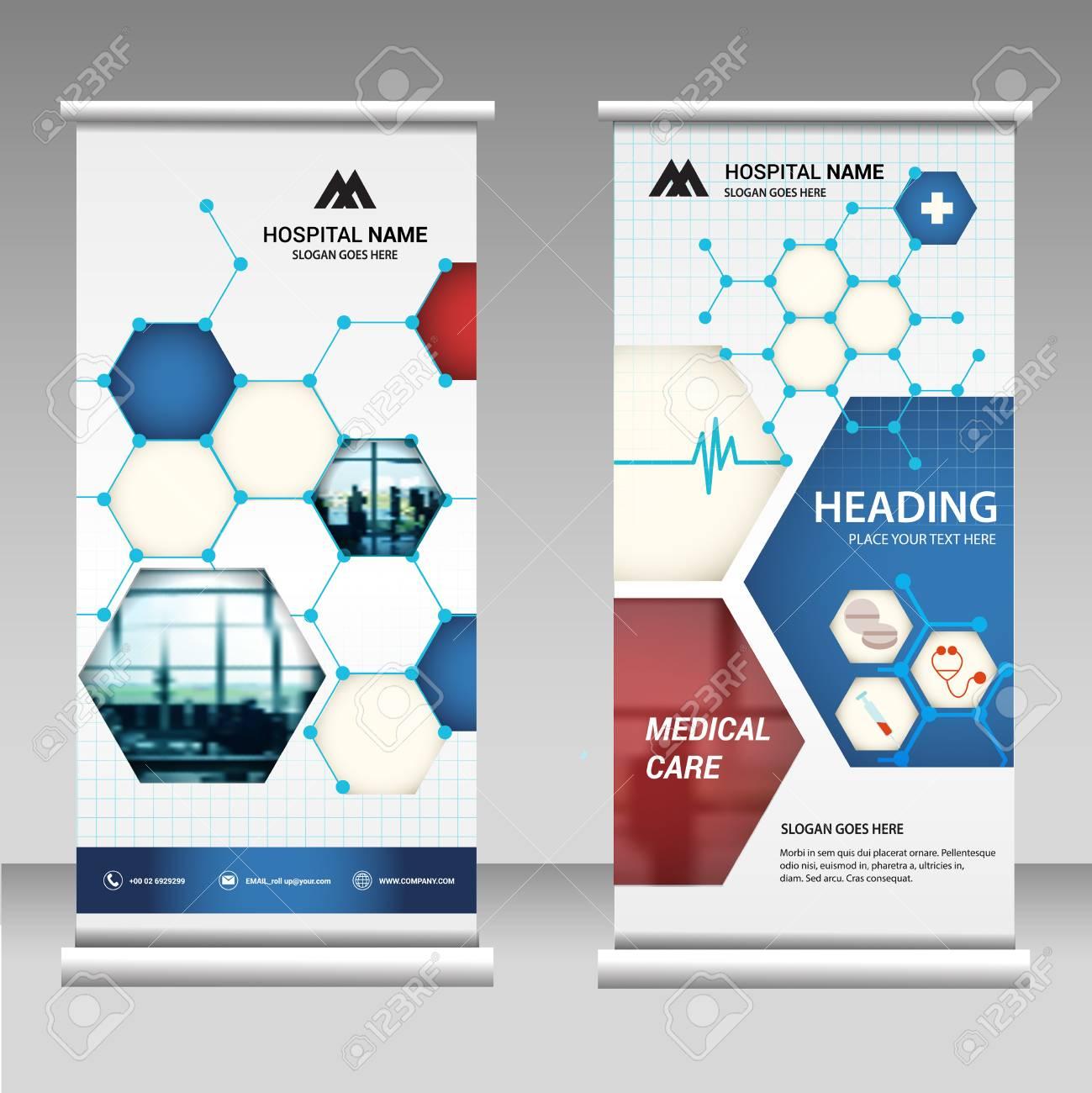 Roll Up Banner Business Design On Background.brochure Template.. Inside Vinyl Banner Design Templates