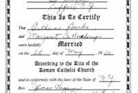 Roman Catholic Baptism Certificate Template inside Roman Catholic Baptism Certificate Template