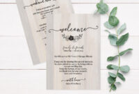 Rustic Wood Wedding Itinerary Template, Rustic Wedding Itinerary Rustic  Wedding Thank You Card Printable C4 in Template For Wedding Thank You Cards