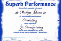 Sales Award Certificates Templates with regard to Best Performance Certificate Template