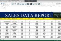 Sales Excel – Corto.foreversammi regarding Sale Report Template Excel