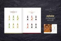 Sales & Image Brochure – Fine Wine. Brochure Templates regarding Wine Brochure Template
