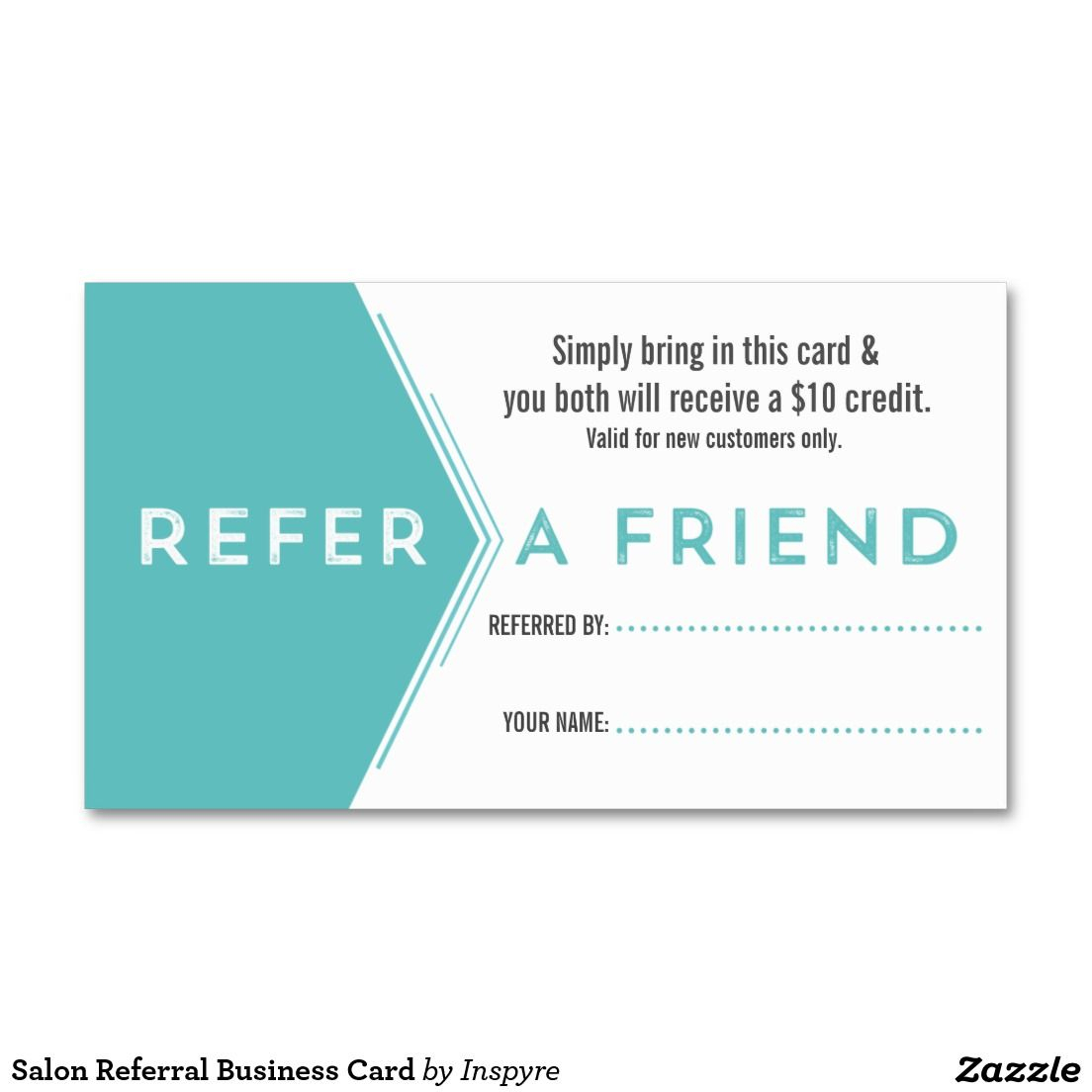 Salon Referral Business Card | Zazzle | Referral Cards With Referral Card Template