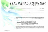 Sample Baptism Certificate Templates | Sample Certificate regarding Baptism Certificate Template Download