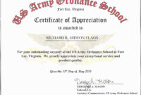 Sample Certificate Of Appreciation For Resource Speaker within Army Certificate Of Appreciation Template