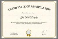 Sample Company Appreciation Certificate Template within Thanks Certificate Template