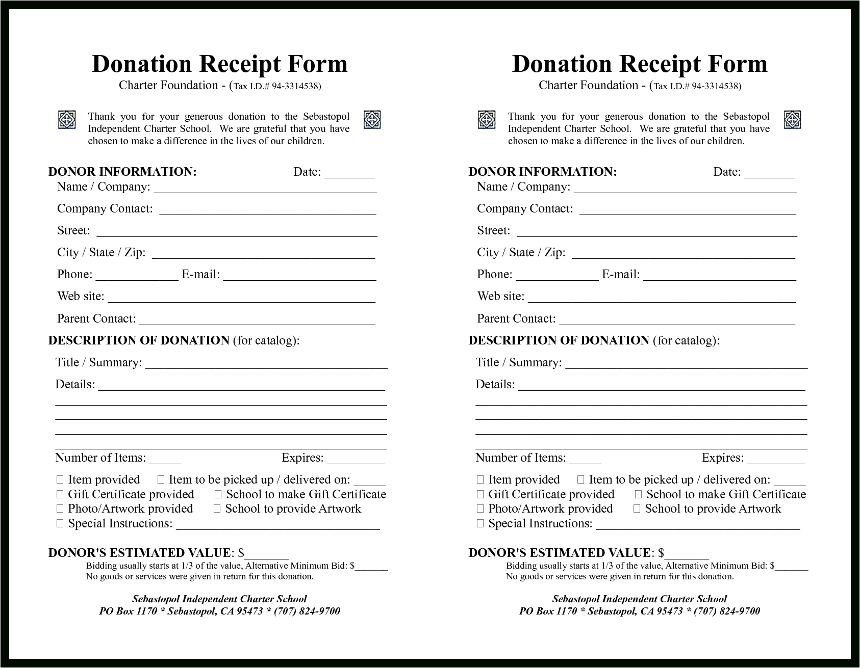 Sample Donation Forms Sale Contract Claim Template Letter Within Donation Report Template