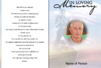 Sample Obituary Poems pertaining to Death Anniversary Cards Templates