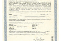 Sample Transfer Certificate Of Title Of A Parcel Of Land inside Certificate Of Ownership Template