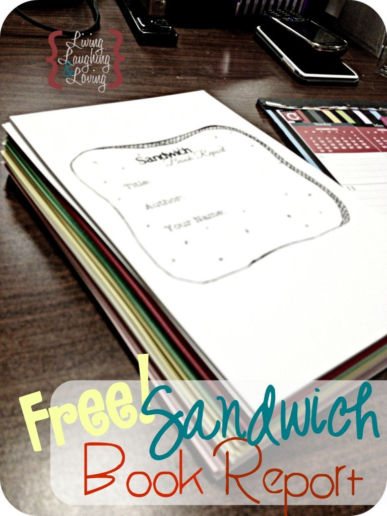 """Sandwich Book Report"""" Template For A Book About A Famous For Sandwich Book Report Template"""
